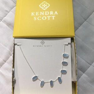 Kendra Scott meadow bright silver collar necklace